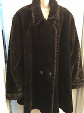 Vintage Faux Leopard Ultra Furs Fur Animal Print swing Coat MADE IN THE USA!