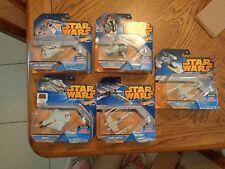 Star Wars Hot Wheels Die-Cast Lot of 5 Fighter Ships W/Flight Navigator NEW