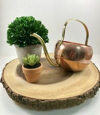 Vintage Copper And Brass Watering Can 6� Tall With Handle