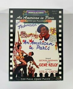 New - An American In Paris Movie Poster Jigsaw Puzzle Gene Kelly 550 Pieces