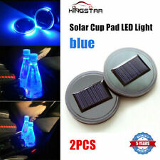 1 pair  Solar Cup Pad Car Accessories LED Light Cover Interior Decoration Lights