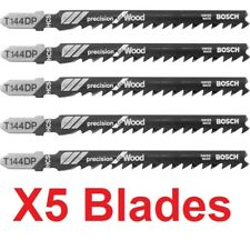 Genuine Bosch Jigsaw Blades Pack of 5 T144DP Precision For Wood 2608633A35