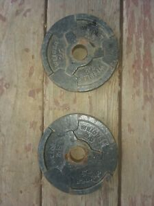 """ONE PAIR OF 2.5 LB. WEIGHT PLATES - WEIDER BRAND - STANDARD 1"""" HOLE"""