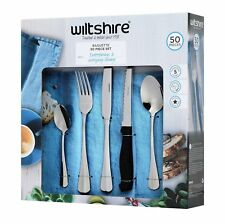 Wiltshire Baguette 50 Piece Stainless Steel Classic Elegant Cutlery Set