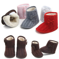 Infant Toddler Baby Girls Shoes Soft Crib Sole Shoes Newborn Winter Warm Boots
