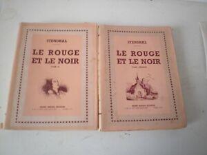 Le rouge et le noir Stendhal 2 tomes numérotés 763 et 98 /1000 édition H Beziat