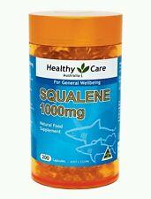 Healthycare Pure Squalene 1000mg 200Caps deepsea shark liver oil OzHealthExperts