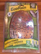 Waterpik Eco Rain Shower Head 2 Spray Settings Total Body Drencher New Chrome