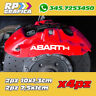 KIT 4 ADESIVI ABARTH sticker PINZE FRENO 500 595
