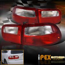NEW For 1992-1995 Honda Civic 3Dr HB HATCHBACK JDM Red Clear Tail Lights EG