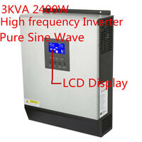 3KVA High Frequency Hybrid Pure Sine Inverter Built in Solar Controller 50A S