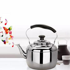 4L Induction Stove Top Electric Gas Whistling Kettle Stainless Steel Teapot