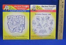 Hot Iron Transfers Reindeer Games & Day of the Week Murtle Turtle Craft Lot 2