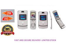 Motorola RAZR v3 Kamera Flip Handy Silber (entsperrt) Bluetooth * 1 Jahr Garantie *