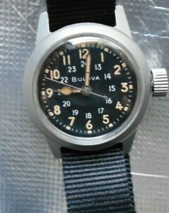 BULOVA MILITARY MIL-W-3818A CAL 10BNCH HACK 17 JEWEL MEN'S WATCH