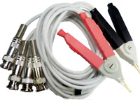 LCR Meter Test Leads Lead / Clip Cable / Terminal Kelvin Probe Wires w/ 4 BNC