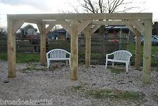 Wooden Garden Shelter Frame, Gazebo, Hot Tub, Canopy Kit 4.6m x 3m