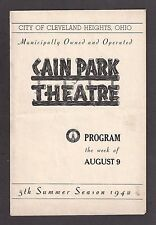 """Hal Holbrook (Age 17) """"IN TIME TO COME"""" Cain Park Theatre 1942 Cleveland Program"""