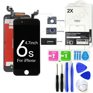 For Black iPhone 6S LCD Display Touch Screen Replacement w Tools+2X Protectors