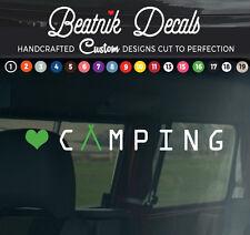 Camper Van Adhesivo Calcomanía Signo Gráfico Funky Vinilo Camping