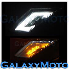 13-15 Scion FR-S Subaru BRZ White+Amber LED Clear Lens Side Marker Blinker Light
