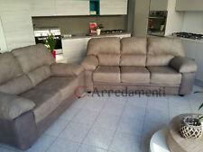 divano imbottito 2 posti e 3 posti in NABUK ecopelle pelle salotto divani sofà