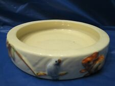 Vintage Pet Water Food Dish Pottery Ceramic Bowl Dog Cat Bird Rabbit Rat Feeder