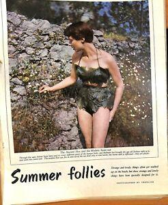Original Vintage 1950s Summer Fashion Swimsuit Advert - Pict Post  29 Jul 1950