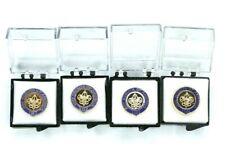 4 BSA Veteran Pins (5, 5, 10, and 10) Brand NEW Boy Scouts BSA Adult