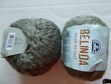 DMC Belinda wool/bamboo blend chunky yarn, sage, lot of 2 (67 yds each)