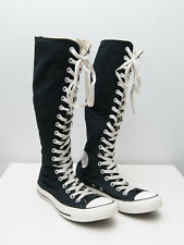 Converse Knee High 20 Hole Eyelet Boots - UK Size 5 - Black - Womens - Trainers
