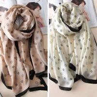 Fashion Silk Scarf For Women New Designer Long Scarves Shawls Wrap New