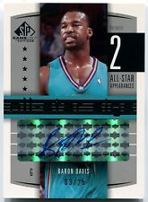 2004-05 Upper Deck SP Game Used BARON DAVIS All-Star Sigs Auto Rare #/25