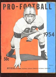 1954 Professional  Football Yearbook VGEX