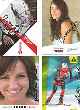 4 Autogramme Andrea Henkel Biathlon + Christina Geiger Ski alpine je 2 versch.
