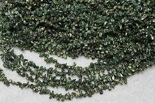 3226 ONE STRAND GREEN KEISHI FLAKES FRESHWATER PEARL LOOSE JEWELRY CRAFT BEAD