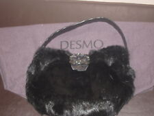 DESMO ITALY  CALF FUR & CROC LEATHER BAG NEW