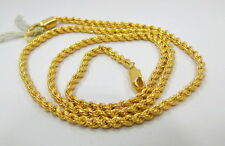 Vintage solid 22K Gold flexible Chain necklace from Rajasthan India