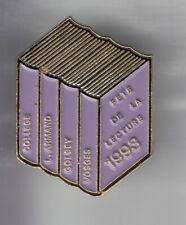 RARE PINS PIN'S .. ART LITTERATURE LIVRE FETE LECTURE ECOLE VOSGES GOLBEY 88 ~EK