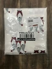 New Pottery Barn Gnome Print Shower Curtain