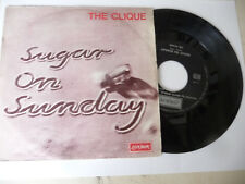 "THE CLIQUE"" SUGAR ON SUNDAY- DISCO 45 GIRI LONDON It 1969""PERFETTO"