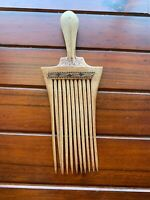 Rare Old Tribal Wooden Afreo Comb...Large 24 Cm.