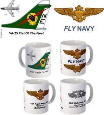 "VA-25 ""Fist Of The Fleet"" A-7 Corsair II mug"