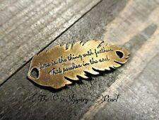 Word Charm Word Pendant Quote Charm Word Connector Emily Dickinson Quote Bronze