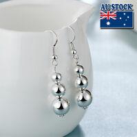 Wholesale Elegant 925 Sterling Silver Filled Ball Dangle Earrings