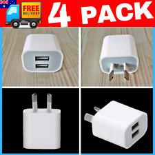 ⚡️ 4 PACK 5V 2A Dual USB AC Wall Charger HOME Power Adapter AU Plug Phone 6 PCS