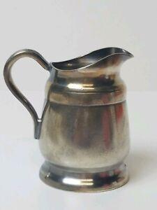 Vintage Reed & Barton 4 oz Creamer Pitcher 2800 Silver Soldered Restaurant Ware