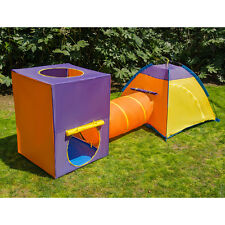 3 Piece Kids Play Tent Portable Indoor/Outdoor Kids Play Tent Castle with Tunnel