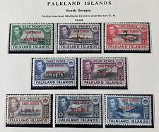 FALKLAND ISLANDS 3L1 - 3L8 2cnd Printing 1L13 Beautiful Mint NEVER Hinged Set AG