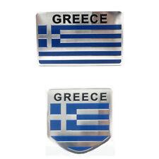1x Nice Aluminum Emblem Badge Decal GREECE Flag Car Sticker Universal Decoration